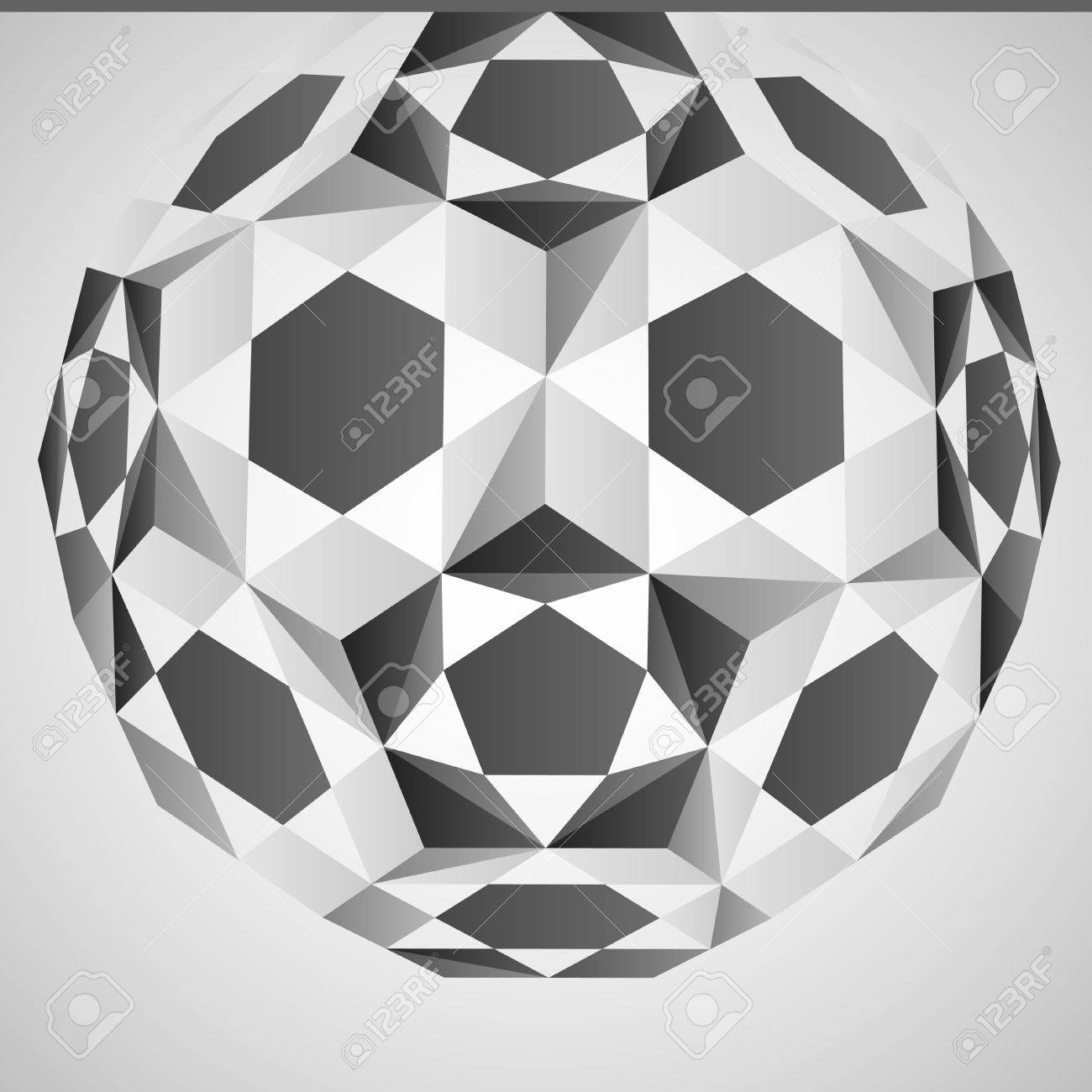 cubic dimensional black and white layout vector illustration Stock Vector - 18427134