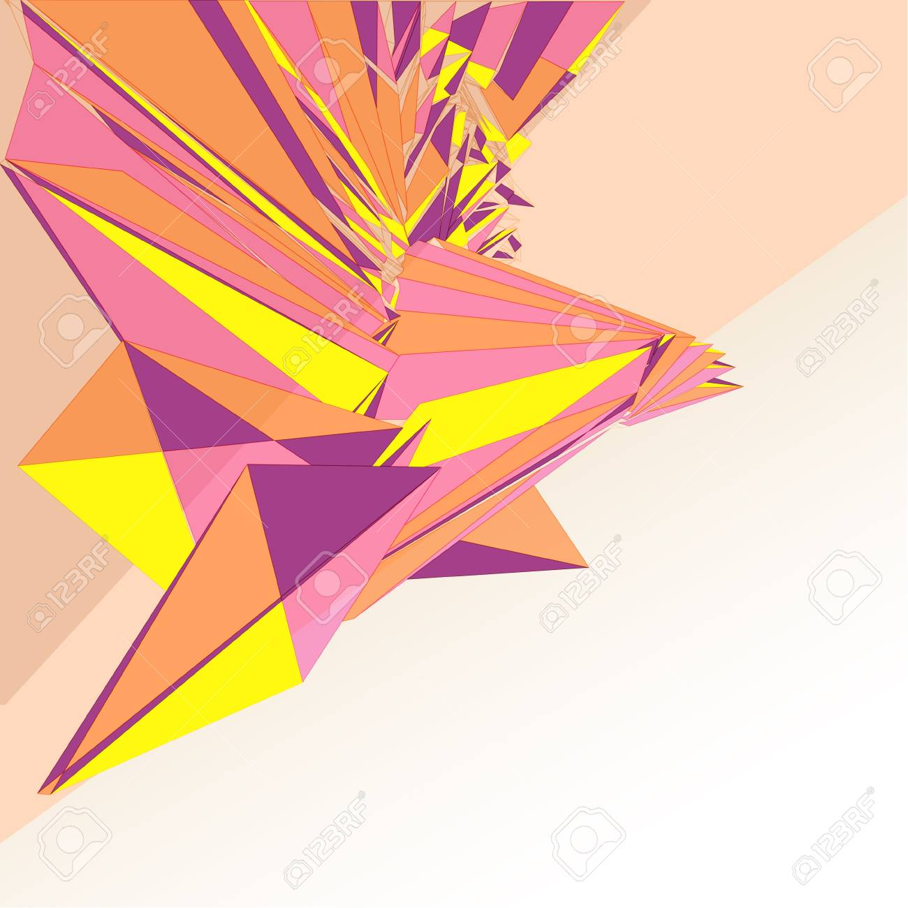 triangular graphic structure with textspace vector illustration Stock Vector - 18555083
