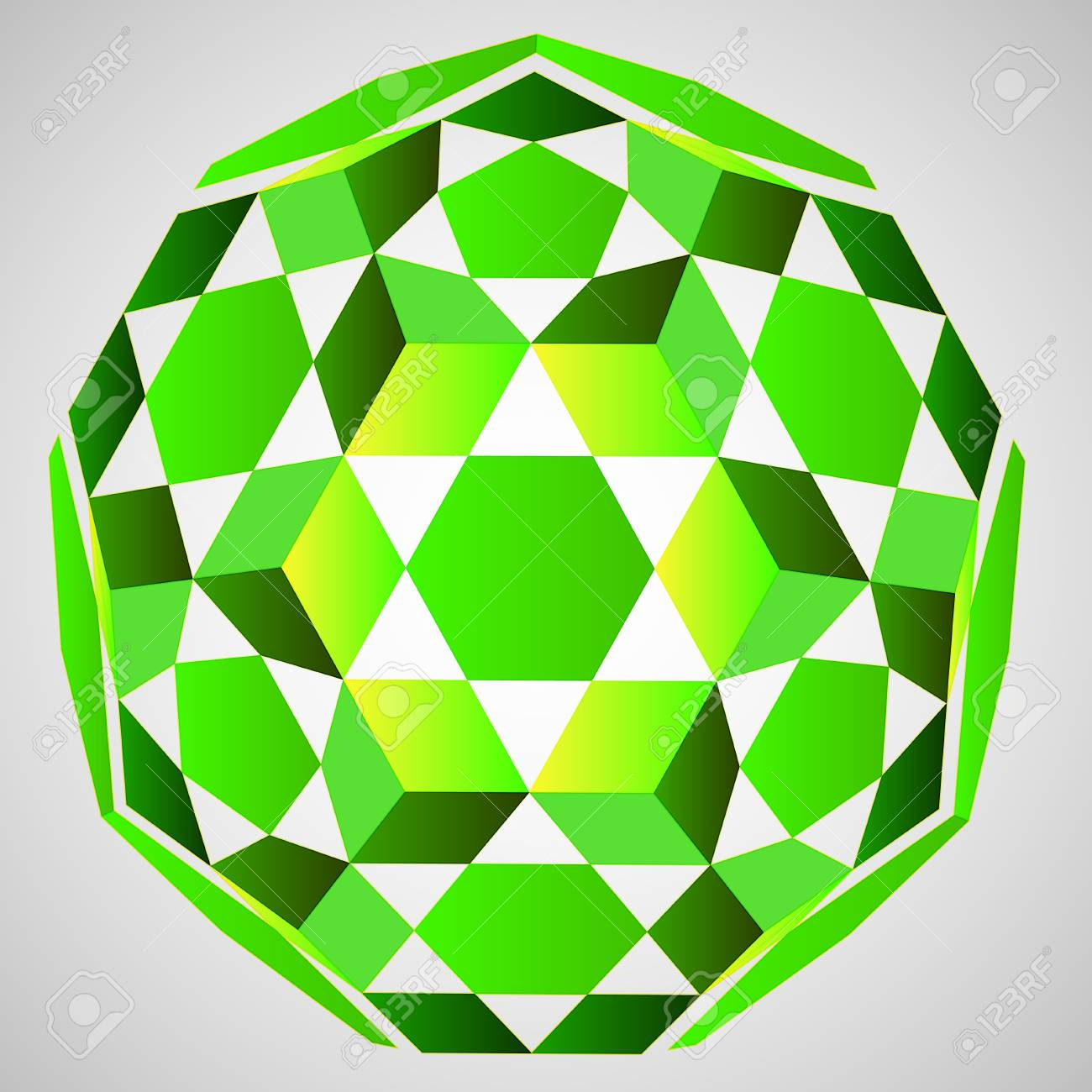 cubic dimensional green layout illustration Stock Vector - 19250473