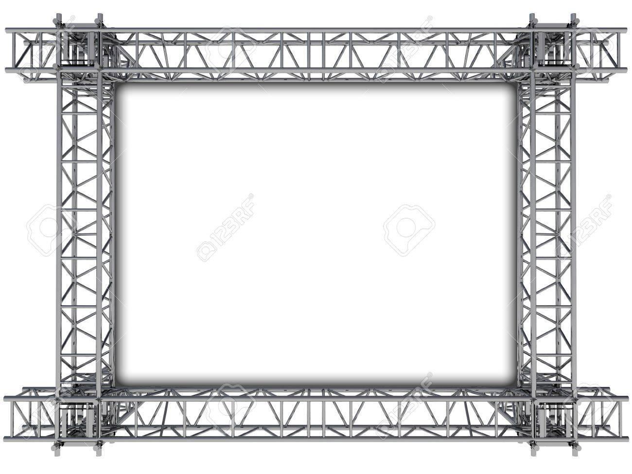 Eisen Rechteckige Konstruktion Rahmen Für Text Illustration ...
