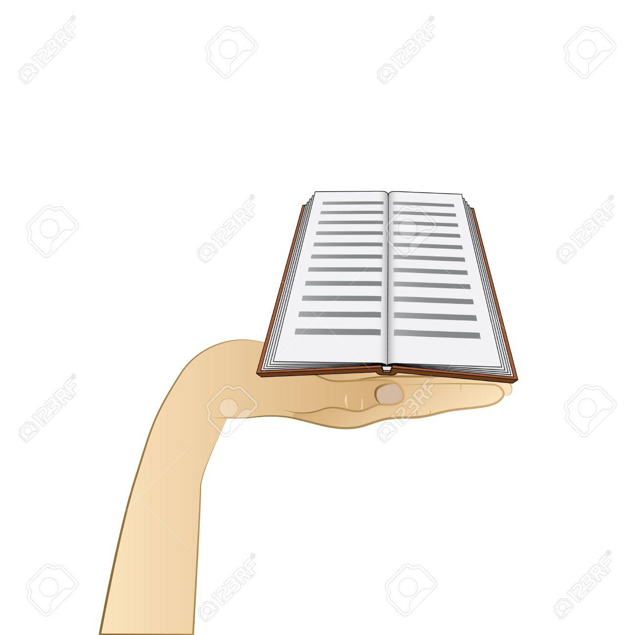 education book on human palm vector illustration Stock Vector - 21228432