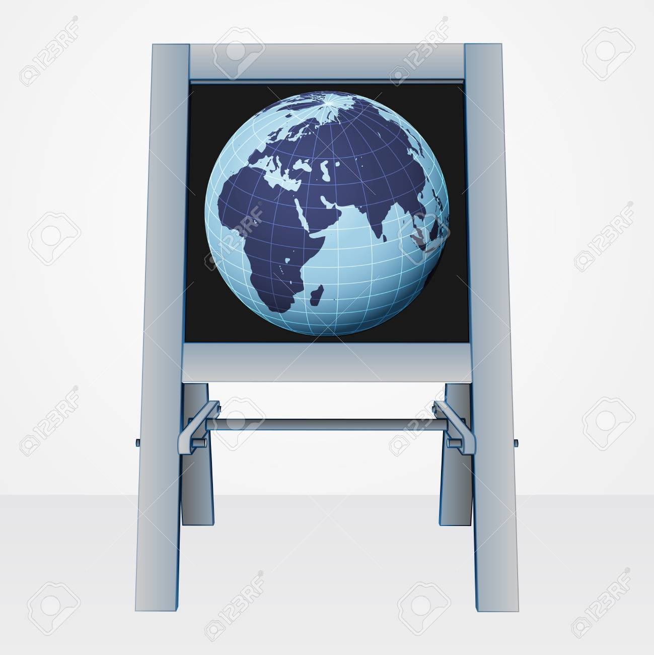 africa world presentation on easel board vector illustration Stock Vector - 21229067