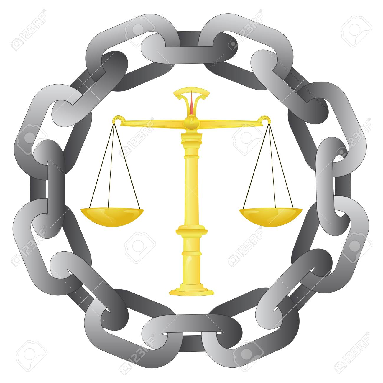 strong chain protect our liberty and justice Stock Vector - 21660029