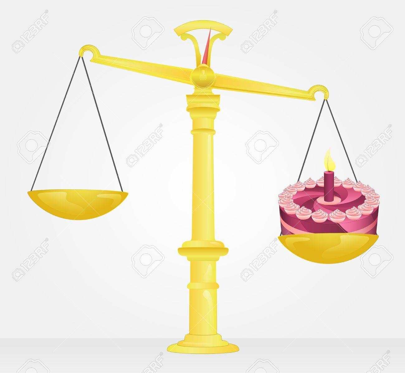 weight measure of birthday cake Stock Vector - 21660312