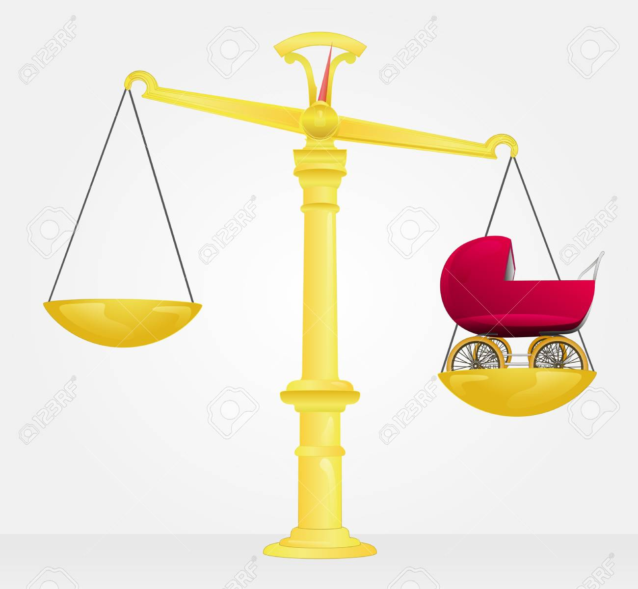 weight measure of baby carriage Stock Vector - 21660318