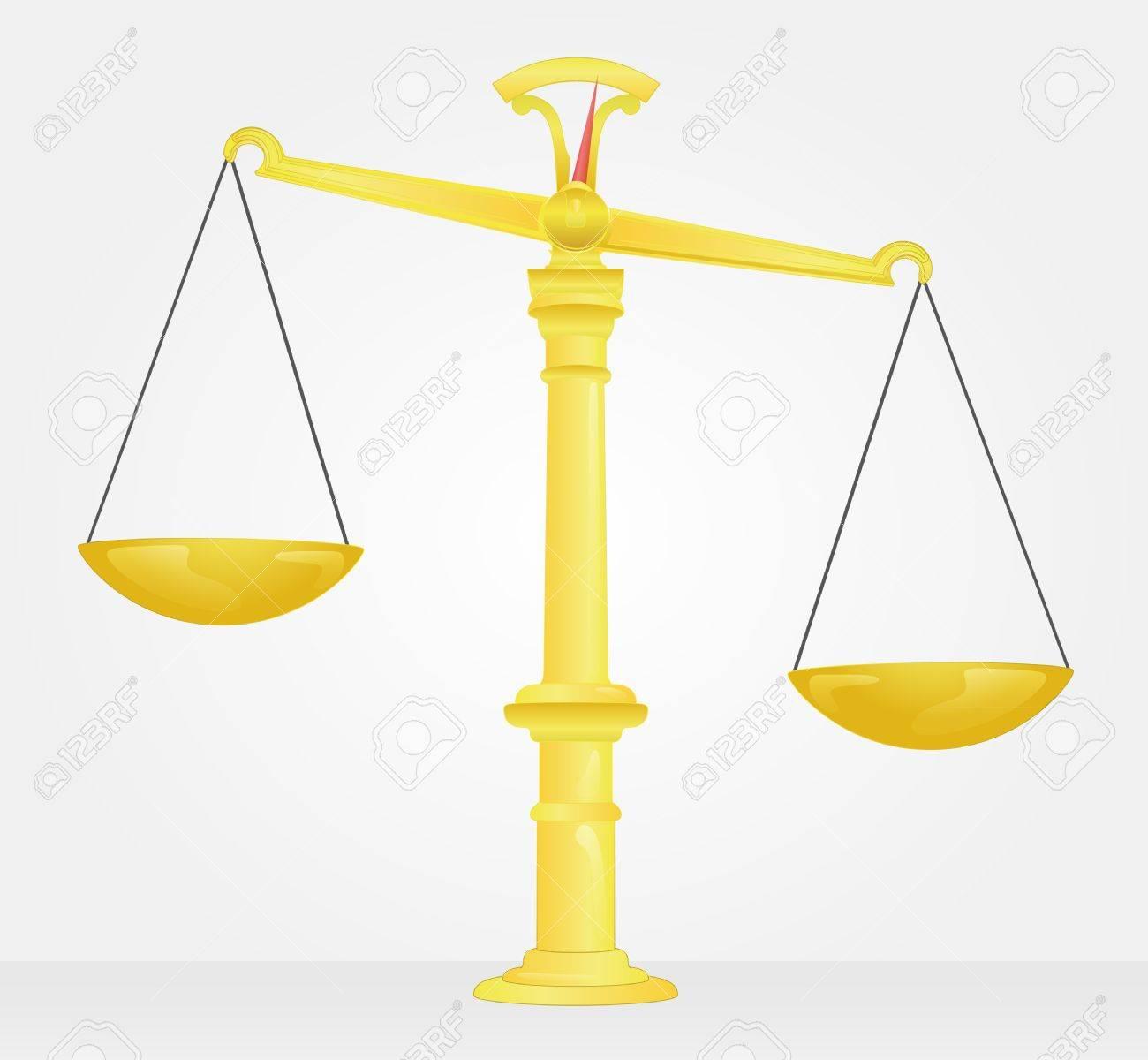 empty golden weight measure imbalanced Stock Vector - 21660340