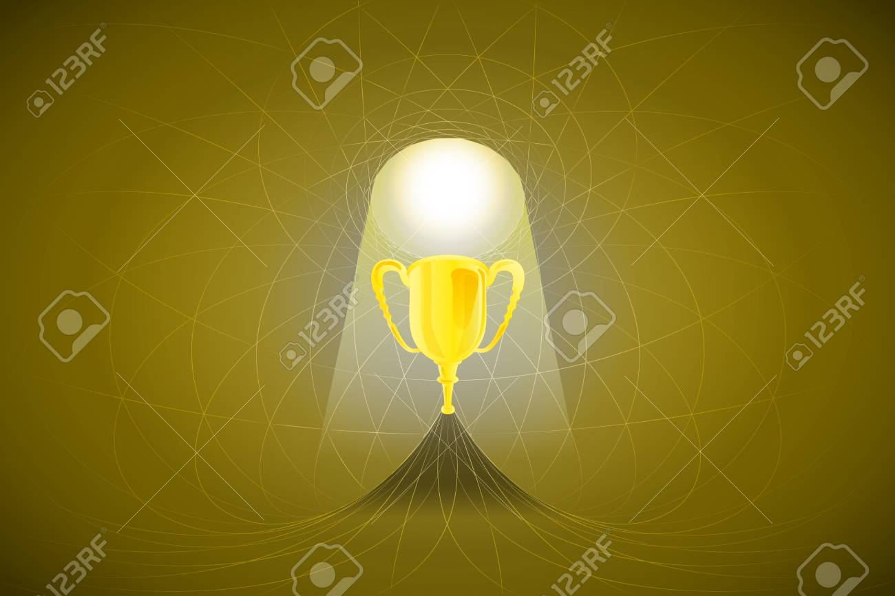 heavenly space with light beam highlights cup vector illustration Stock Vector - 22372331