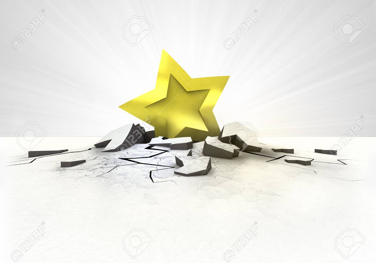 golden star stuck into ground with flare concept illustration Stock Illustration - 27191431