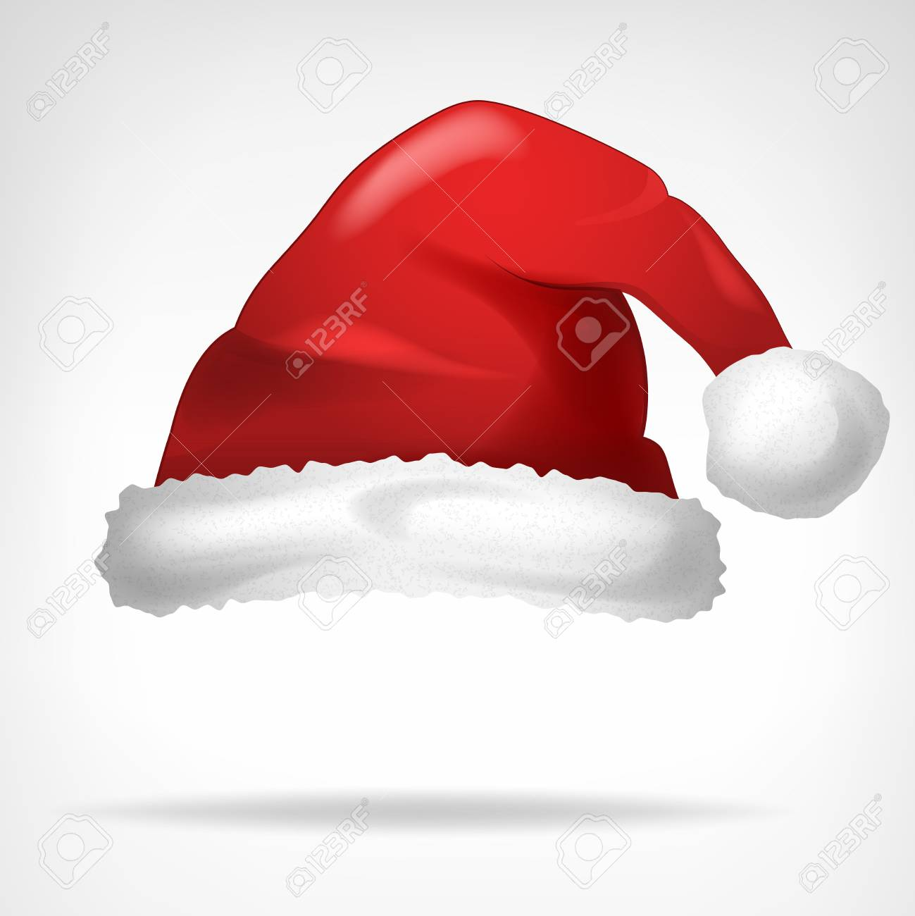 red santa hat isolated on white vector illustration - 33088806