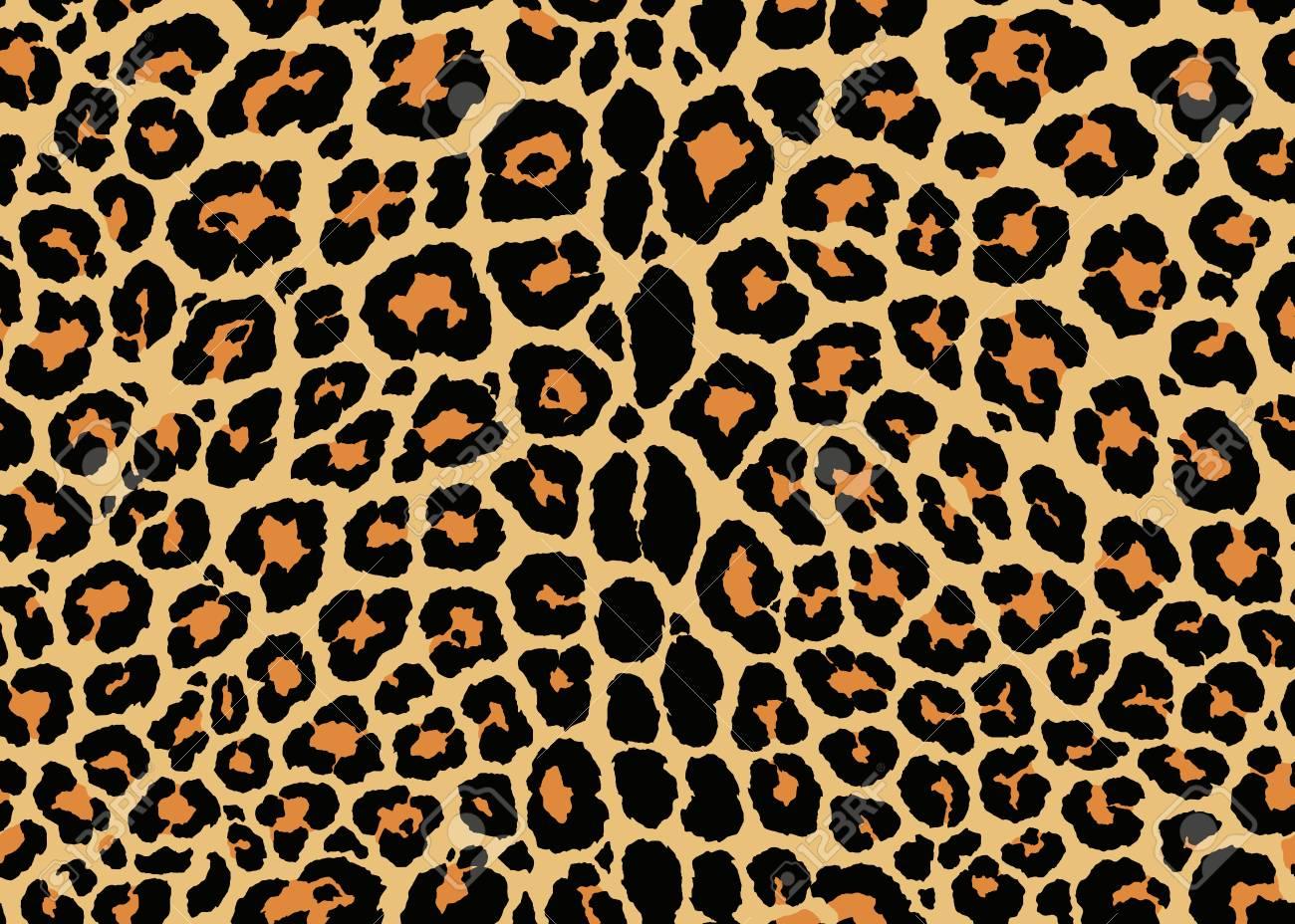 Leopard pattern design. Seamless Leopard pattern design, vector illustration background. Fur animal skin design illustration for web, fashion, textile, print, and surface design - 120547603