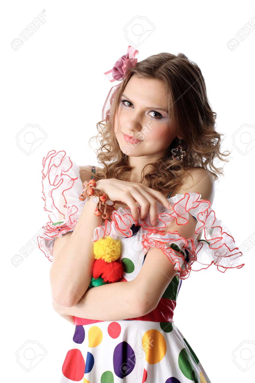 Teenie-Mädchen In Der Partei Kleid Lizenzfreie Fotos, Bilder Und ...