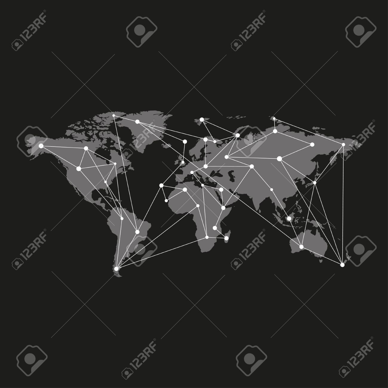 Blank grey similar world map isolated on black background blank grey similar world map isolated on black background monochrome world map template for website gumiabroncs Images