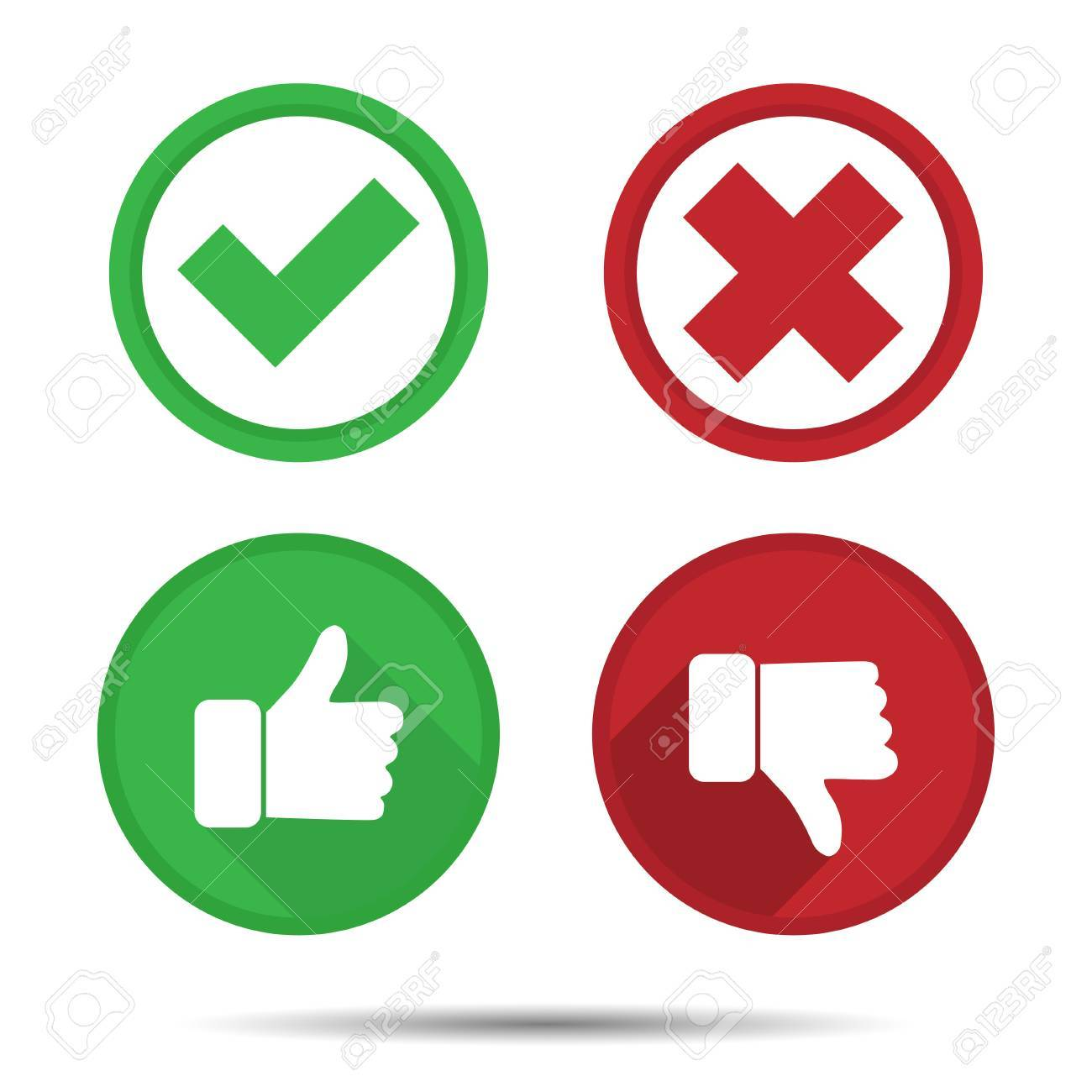 thumbs up and thumbs down yes no icons royalty free cliparts