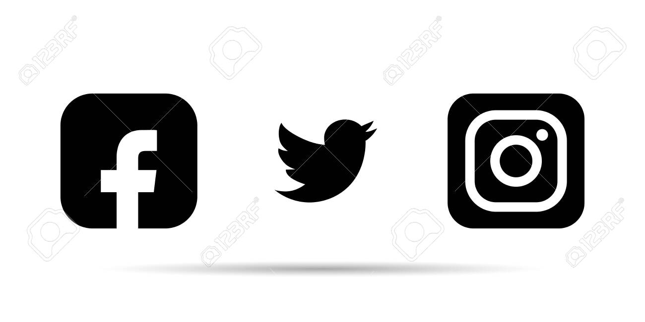 Facebook Instagram Twitter Collection Of Popular Social Media Stock Photo Picture And Royalty Free Image Image 141001774