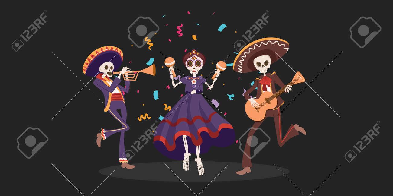 Halloween Dia De Los Muertos Holiday. Traditional Mexican Day Of Dead - 156365567