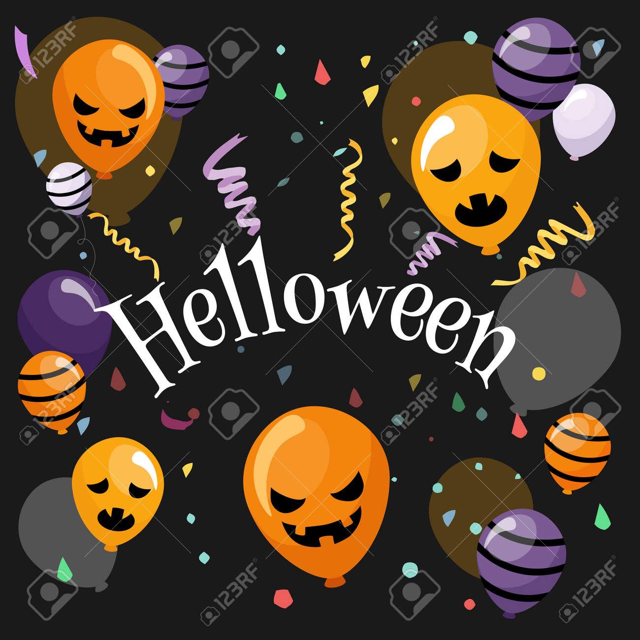 Halloween banner In Spooky Night - Happy Halloween vector. halloween pattern easy to color adjustment - 156365568