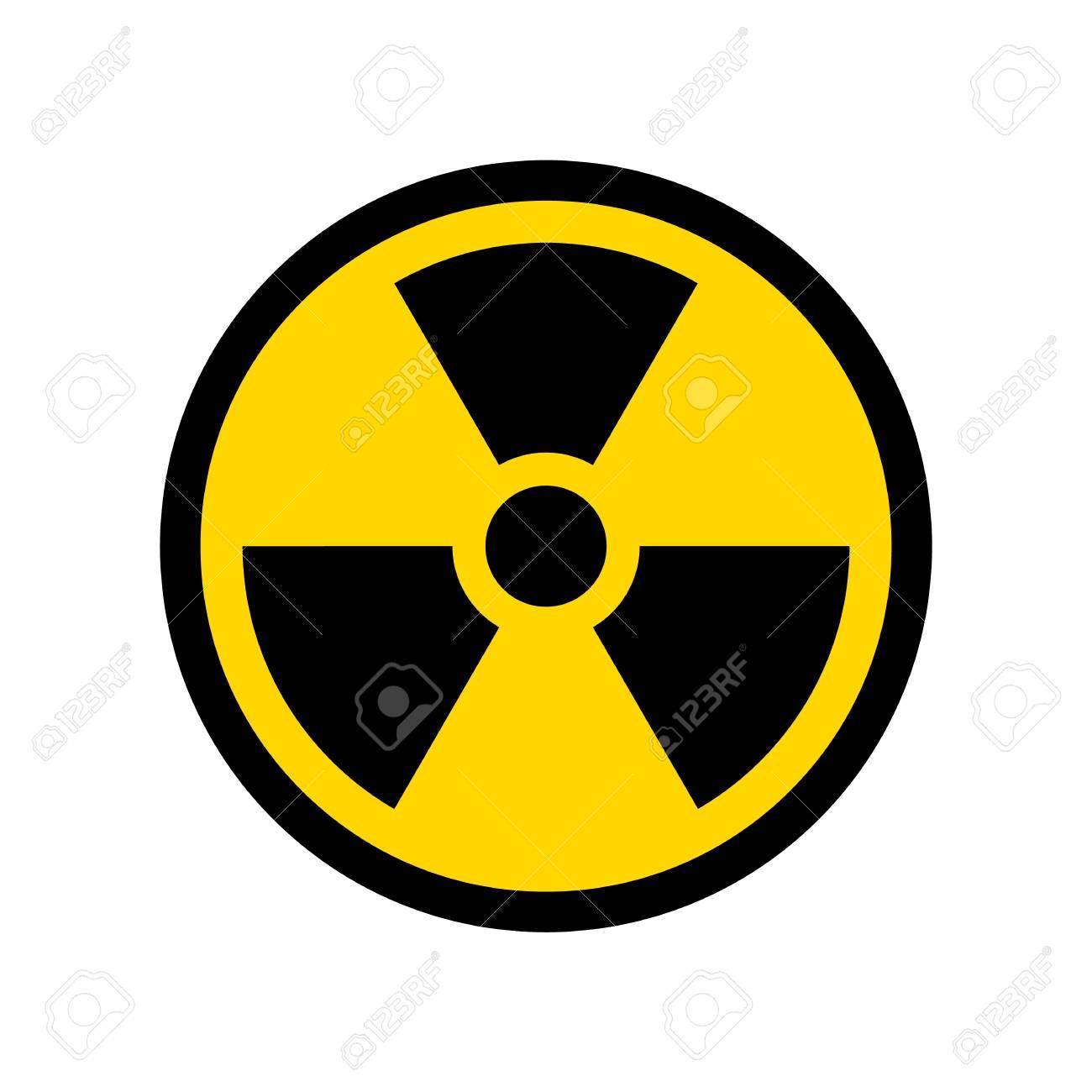 Vector Reproduction of Radioactive symbol simple design icon - 107709598