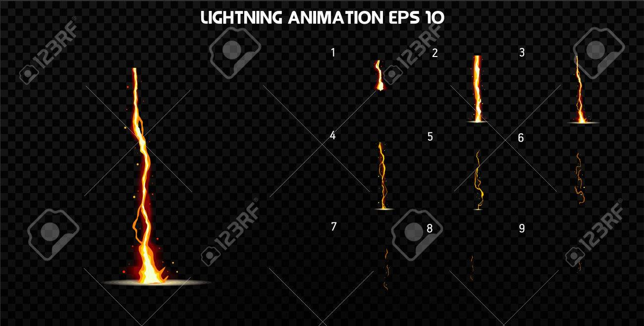 Explode effect animation with smoke. Cartoon explosion frames. Sprite sheet of explosion. Animation for game or cartoon. - 73137763