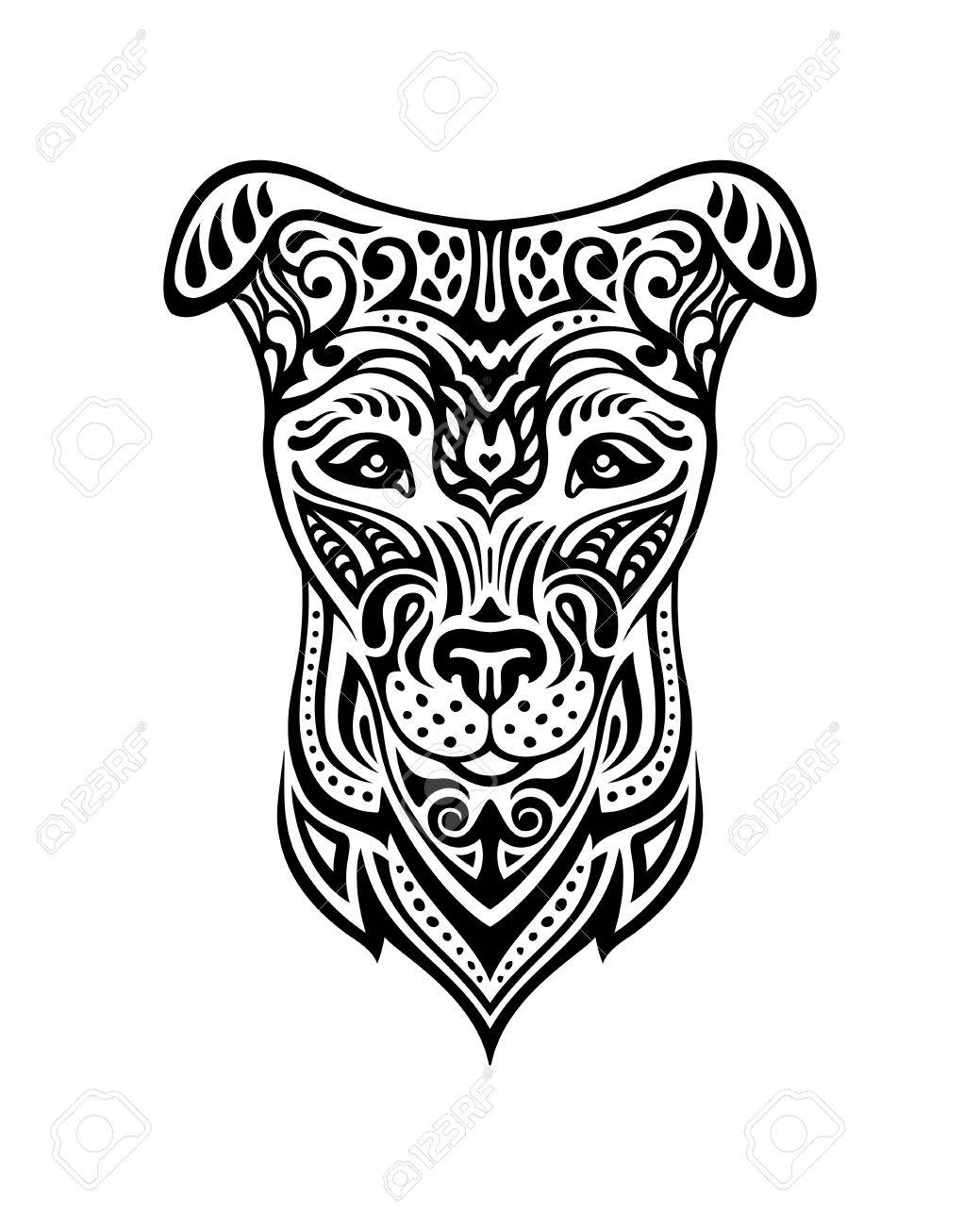 Dog Is A Symbol Of The 2018 Chinese New Year Doodle Style Design For
