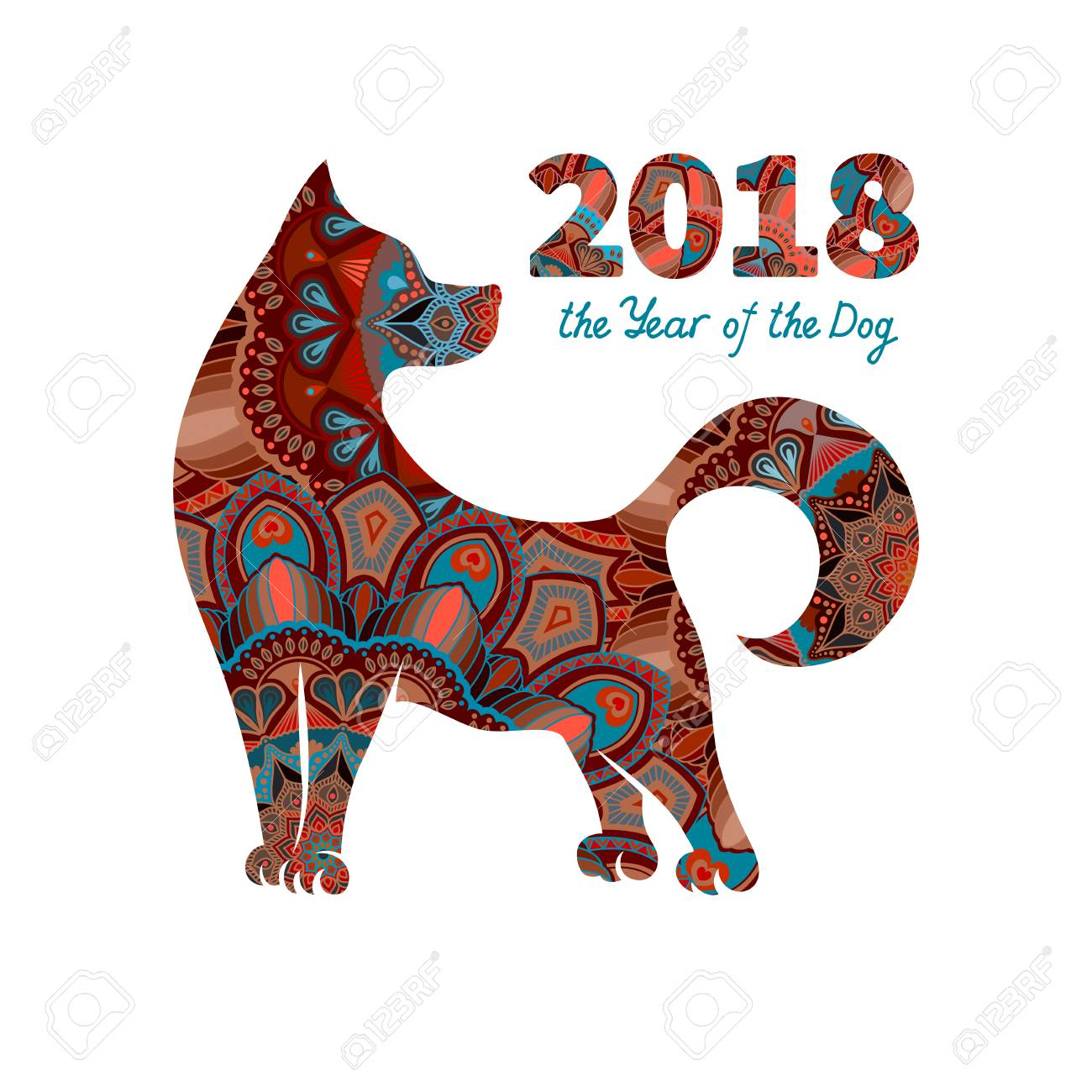 dog is a symbol of the 2018 chinese new year design for greeting - Chinese New Year 2015 Animal