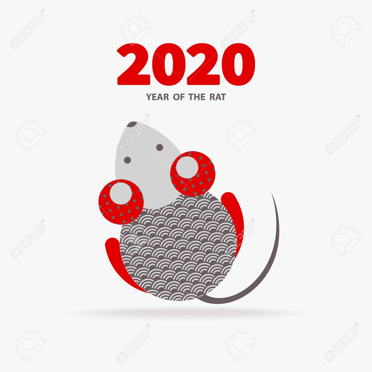Chinese New Year Holiday 2020.Rat Is A Symbol Of The 2020 Chinese New Year Holiday Vector