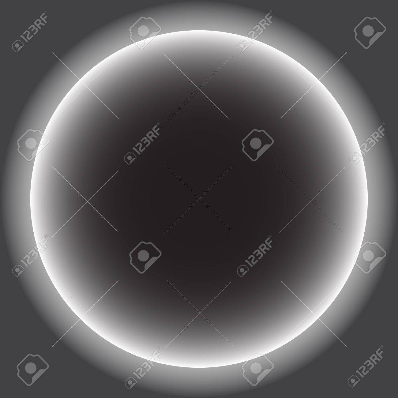 Gray Circle With White Halo Solar Eclipse Vector Illustration Royalty Free Cliparts Vectors And Stock Illustration Image 84346826