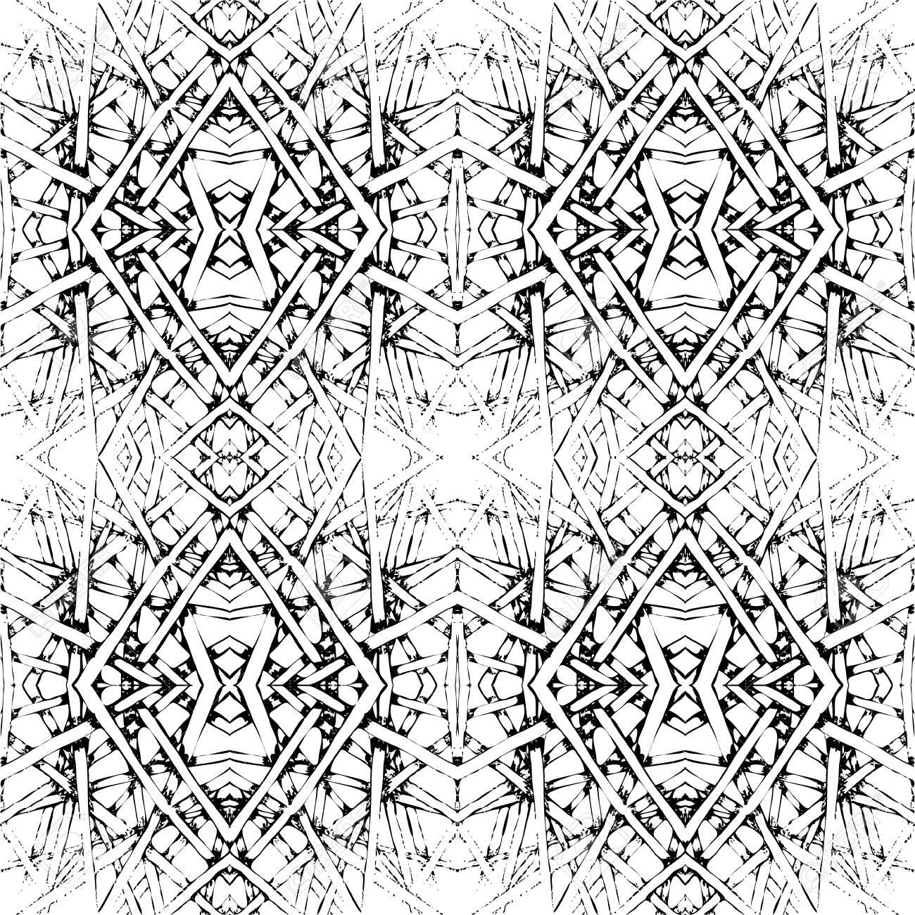 Schwarz Weißes Nahtloses Muster Der Fliesen Vektor Illustration
