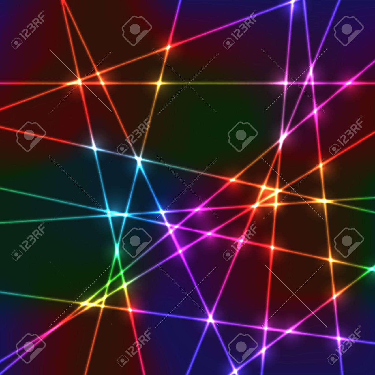 neon laser grid with random beams for disco show or party royalty