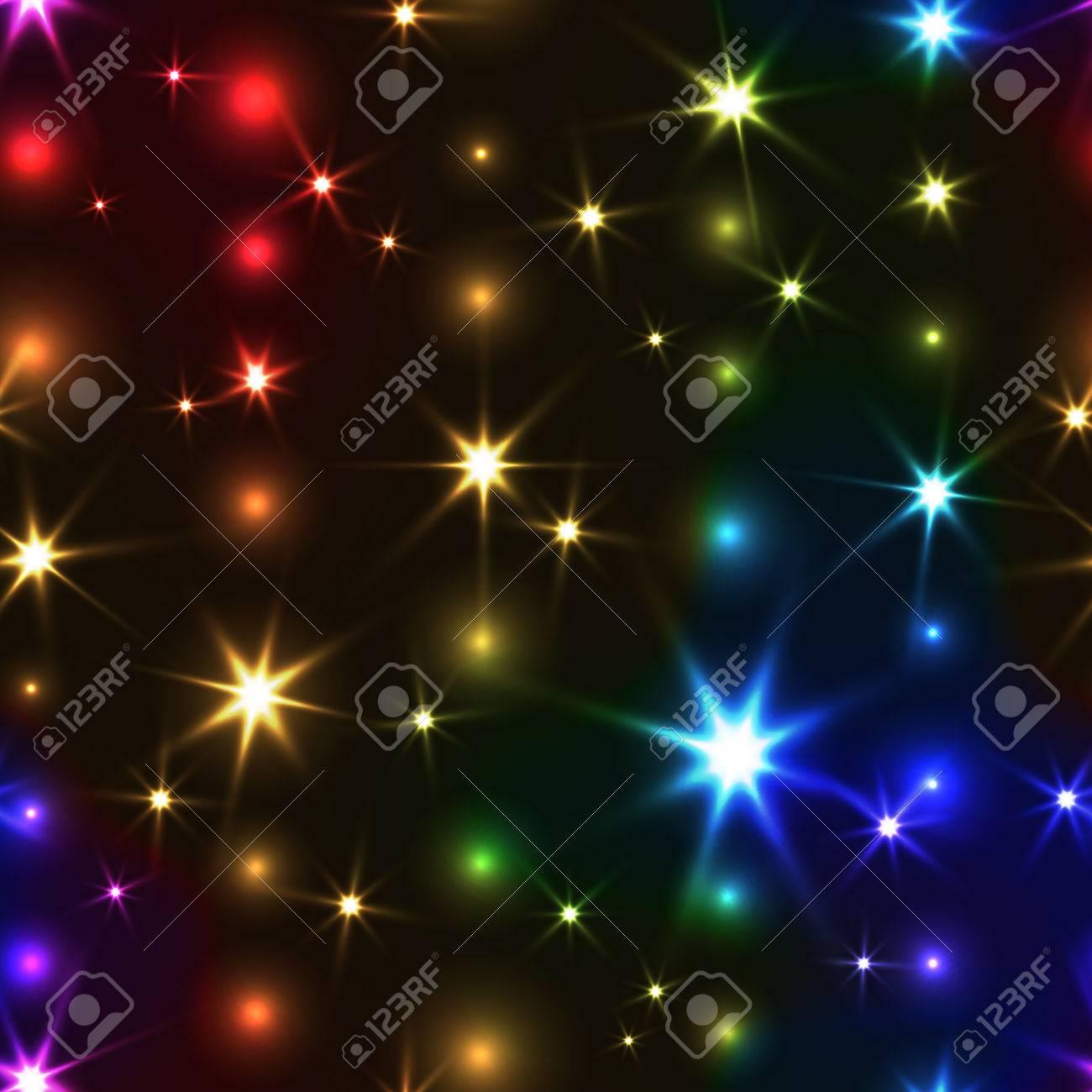 Rainbow seamless background with shiny Christmas chain  Festive