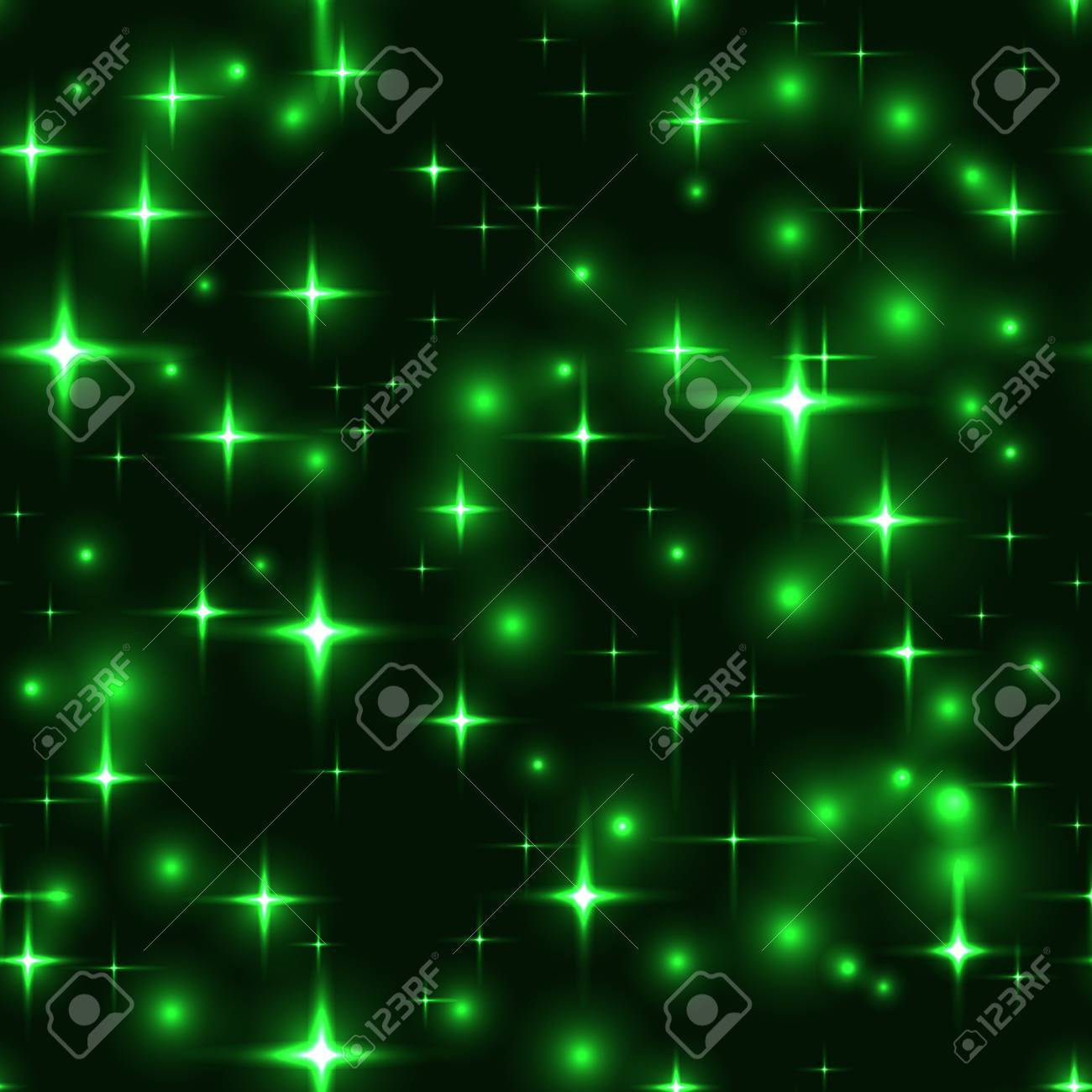 superb green stars dark seamless background gorgeous glittering