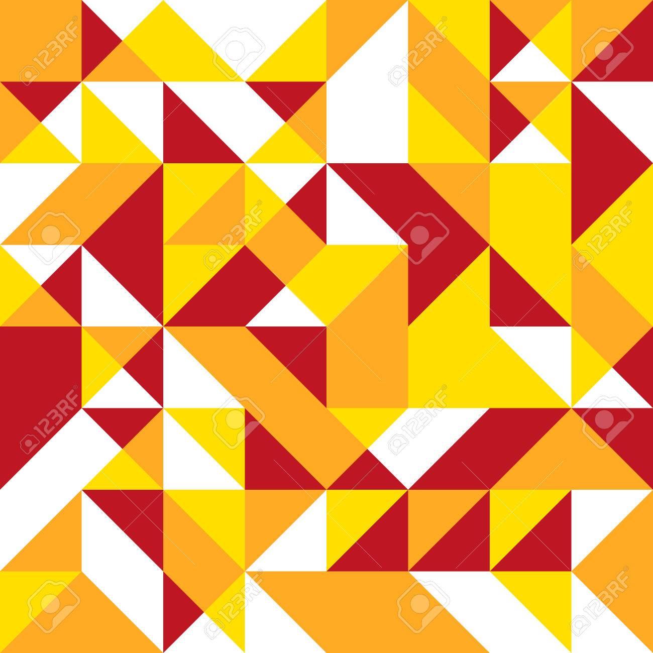 Forme Géométrique De Couleur Chaude Brillante Et Triangulaire En ...
