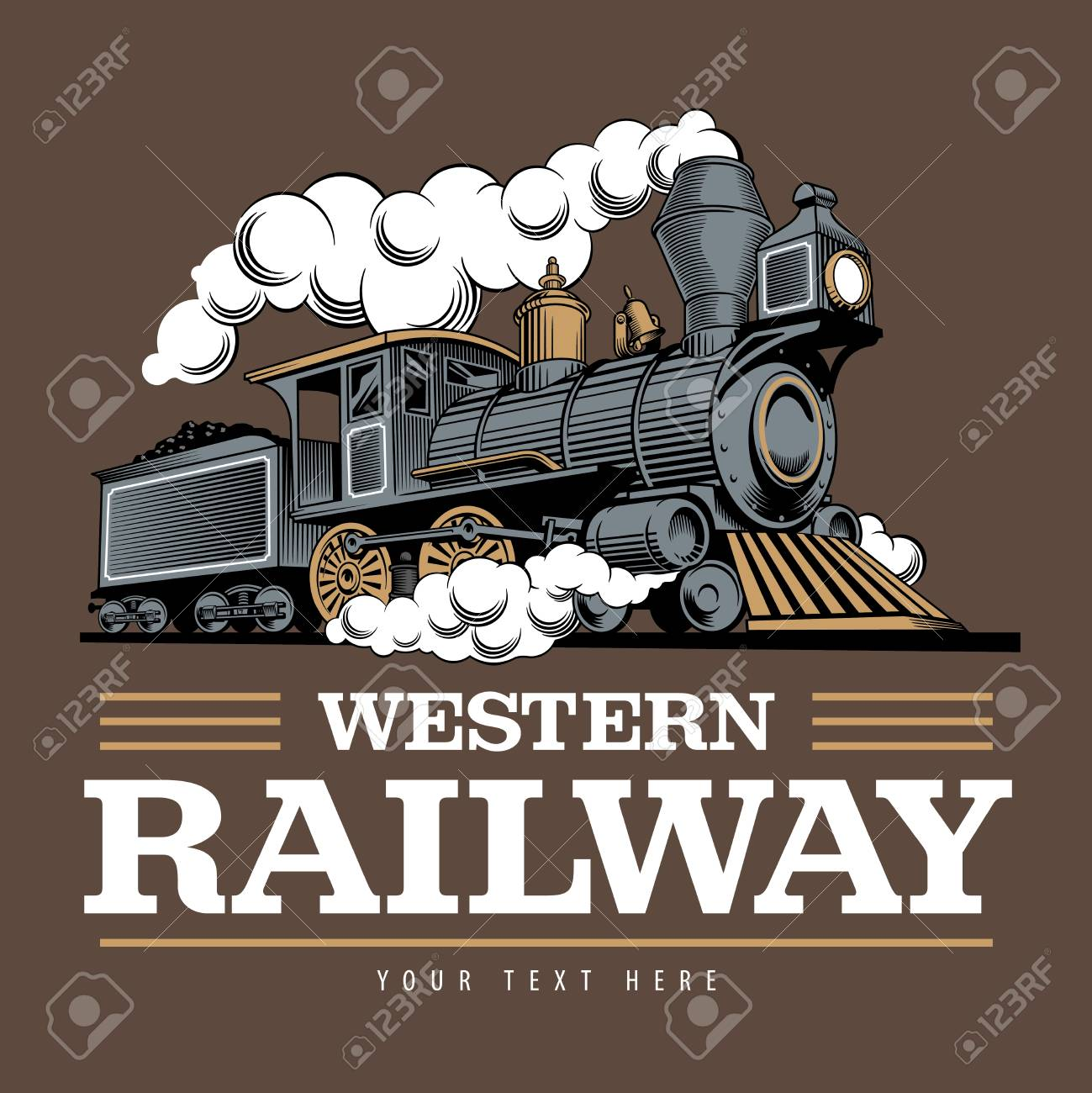 Vintage Steam Train Locomotive Engraving Style Vector Illustration Royalty Free Cliparts Vectors And Stock Illustration Image 119865822