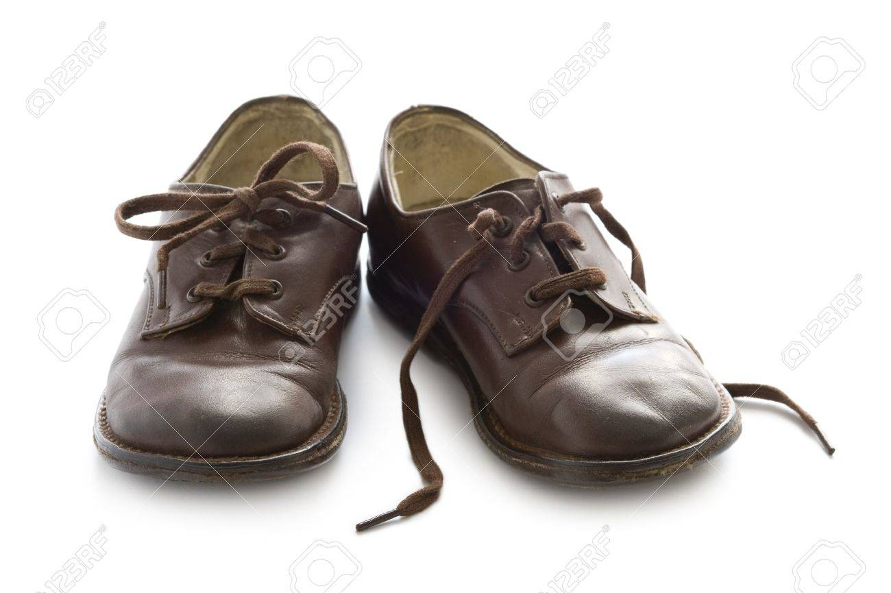 A Pair Of Vintage Childs Brown Leather