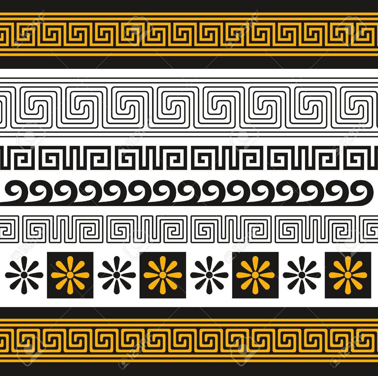 set of greece ornaments Stock Vector - 9094008