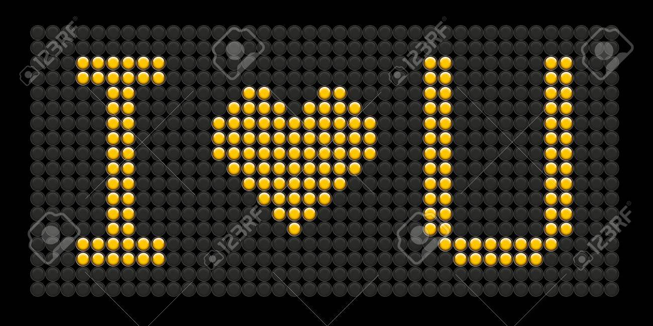 yellow button board words i love you isolated on black board Stock Vector - 9564133