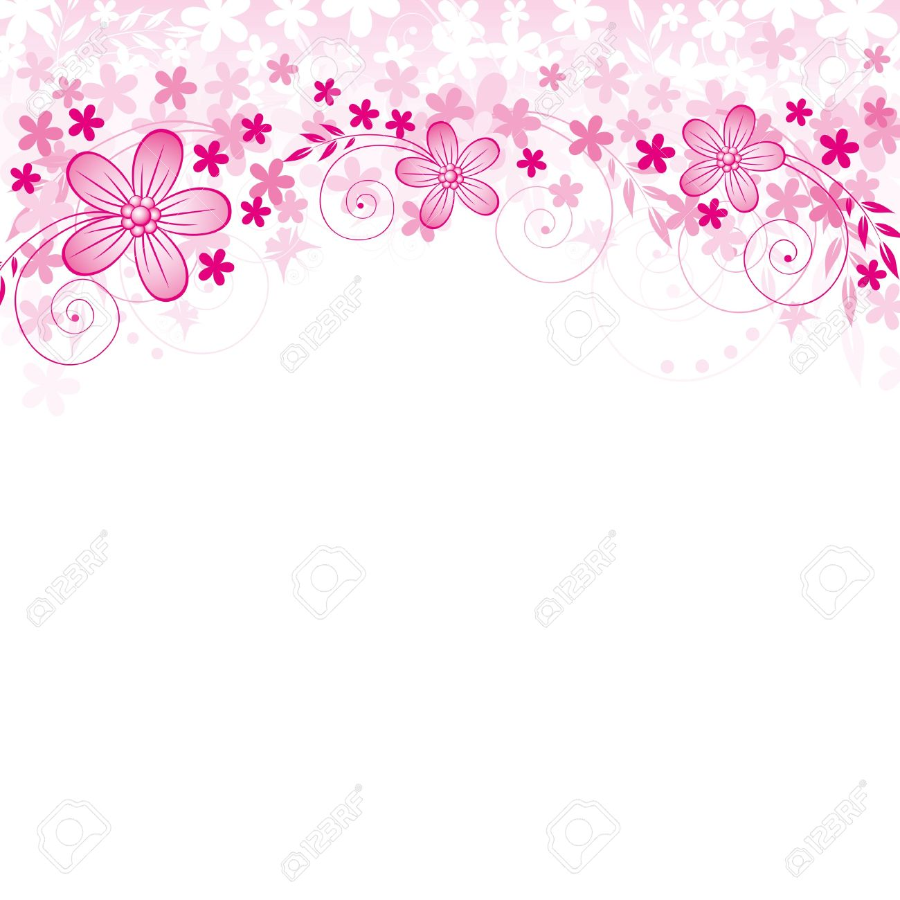 Abstract background with flowers and spase for your text Stock Vector - 12746026