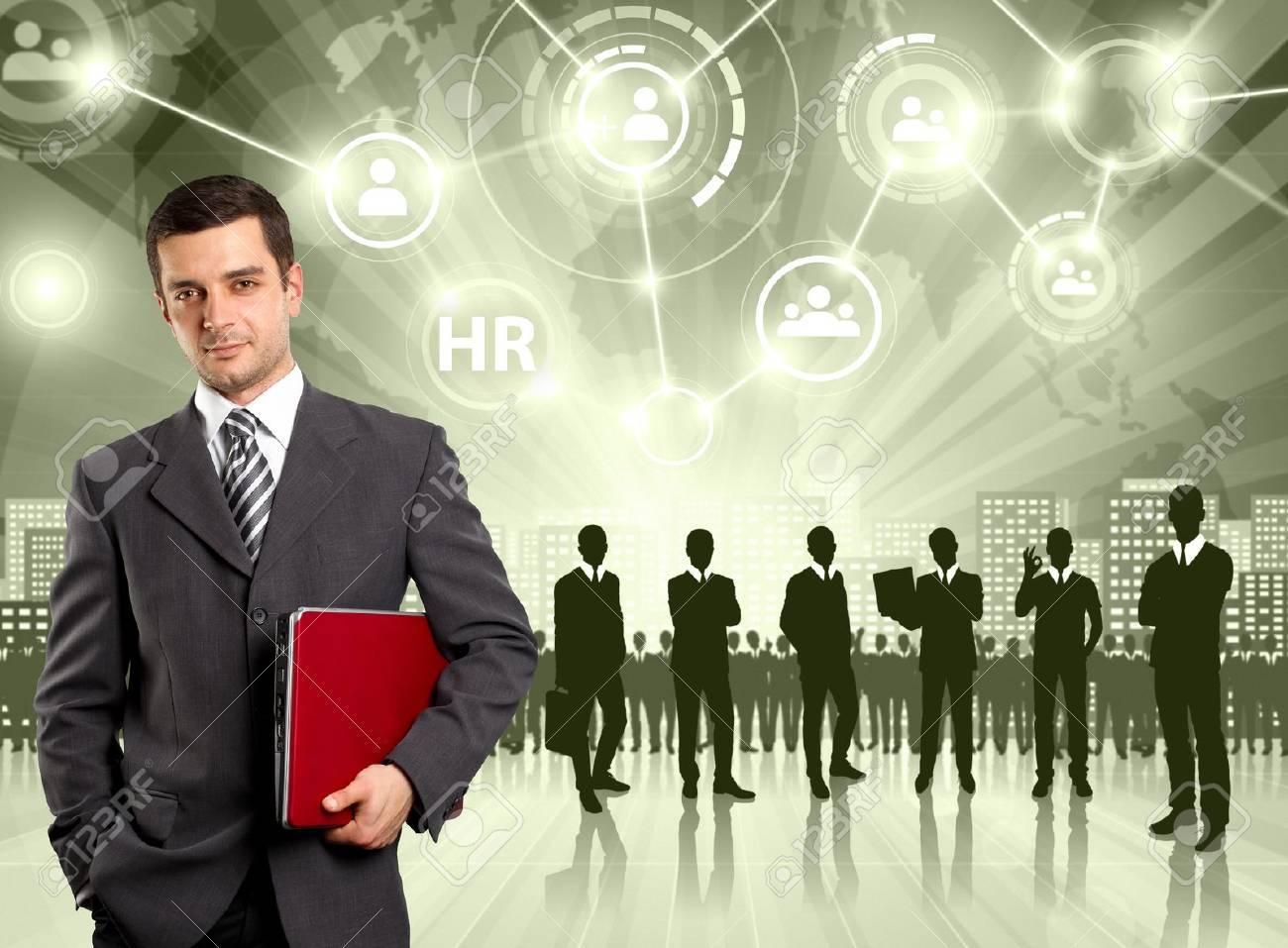 HR concept. Business man choosing the employee Stock Photo - 20573654
