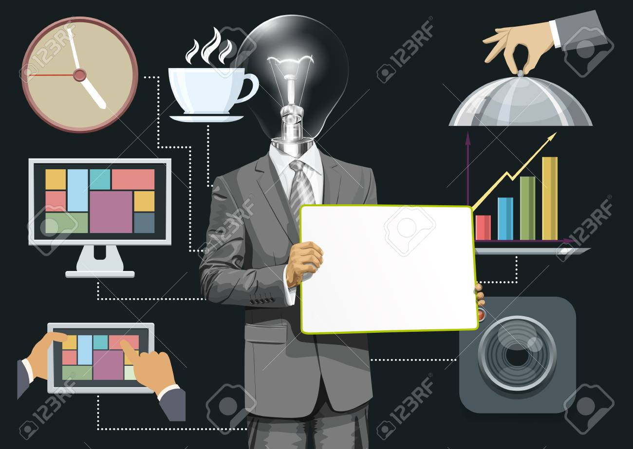 Vector icons set with flat design and people Stock Vector - 30831123