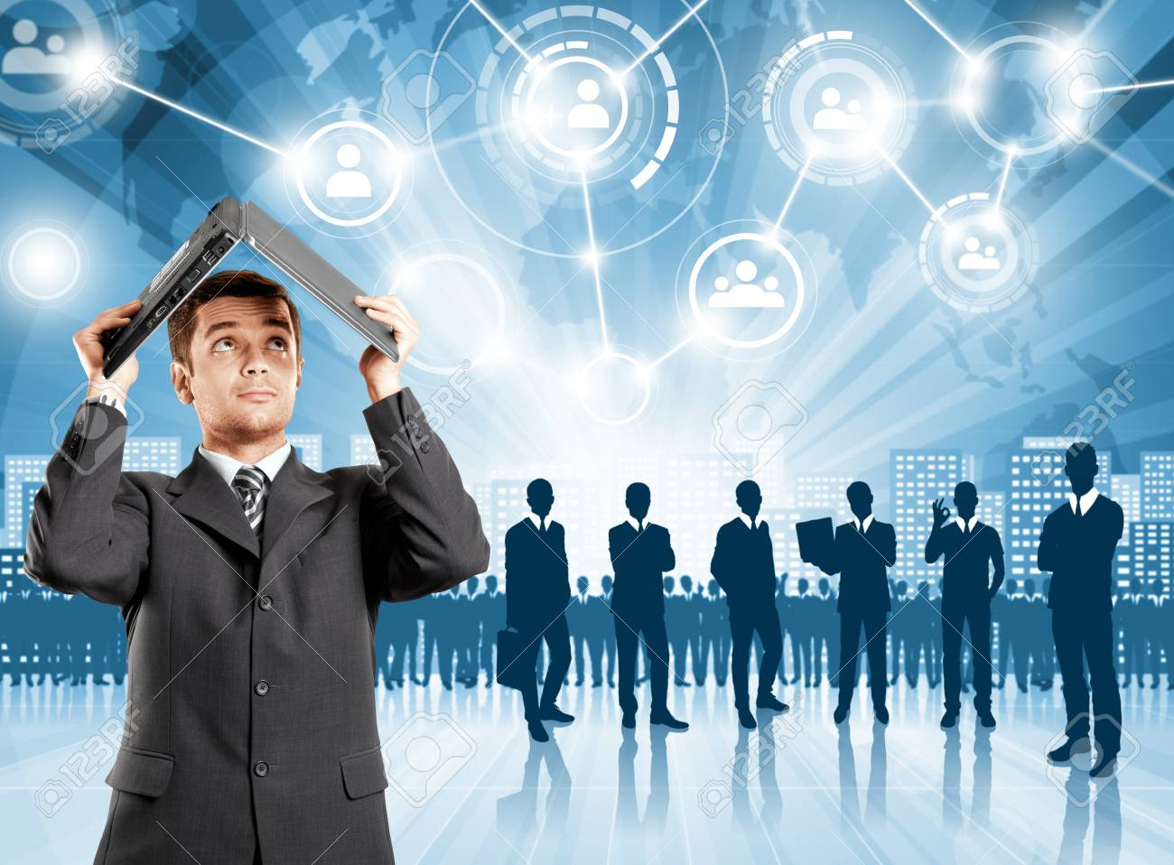 HR concept. Business man choosing the employee Stock Photo - 30829517