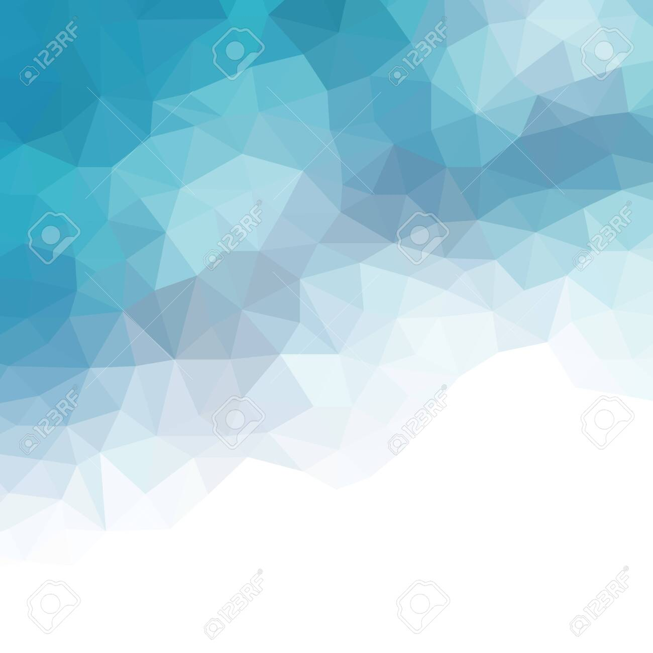 Water poly background. Vector Polygon Abstract modern Polygonal Geometric Triangle Background. Modern low poly abstract halftone triangular background - 120904728