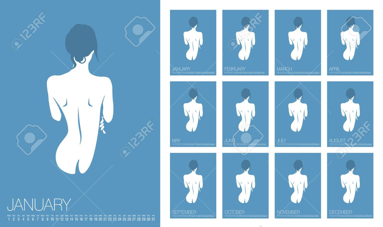 Vector Erotic Calendar 2020 Annual Wall Calendar Layout Sexy Royalty Free Cliparts Vectors And Stock Illustration Image 134138784