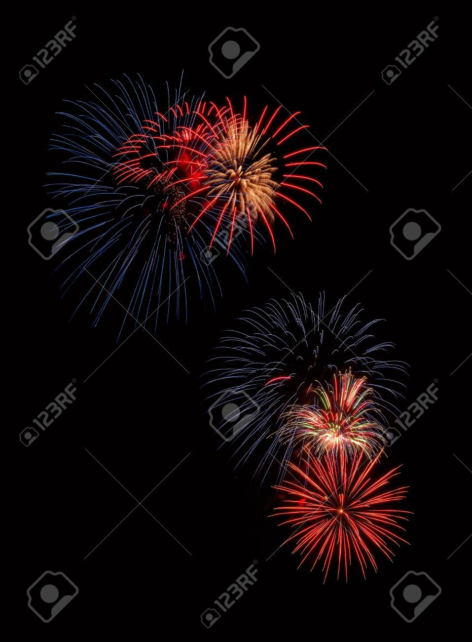 Colorful fireworks celebration on Independence Day Stock Photo - 13959121