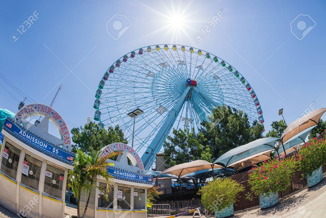 DALLAS, TX, - 6 Julio 2014: La Estrella De Tejas, La Noria Más ...