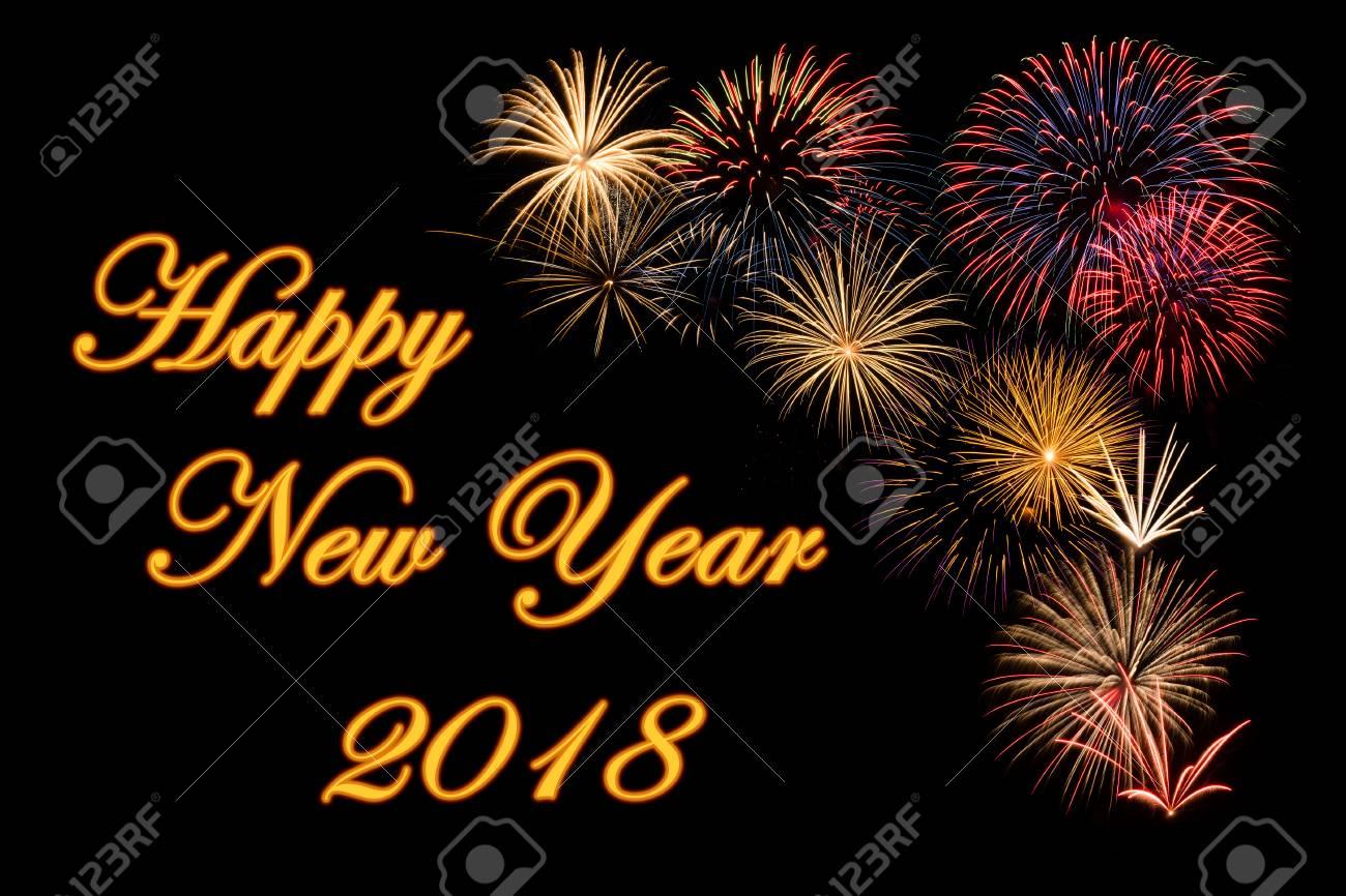 Festliches Feuerwerk Für Ein Frohes Neues Jahr 2018 Wünsche ...