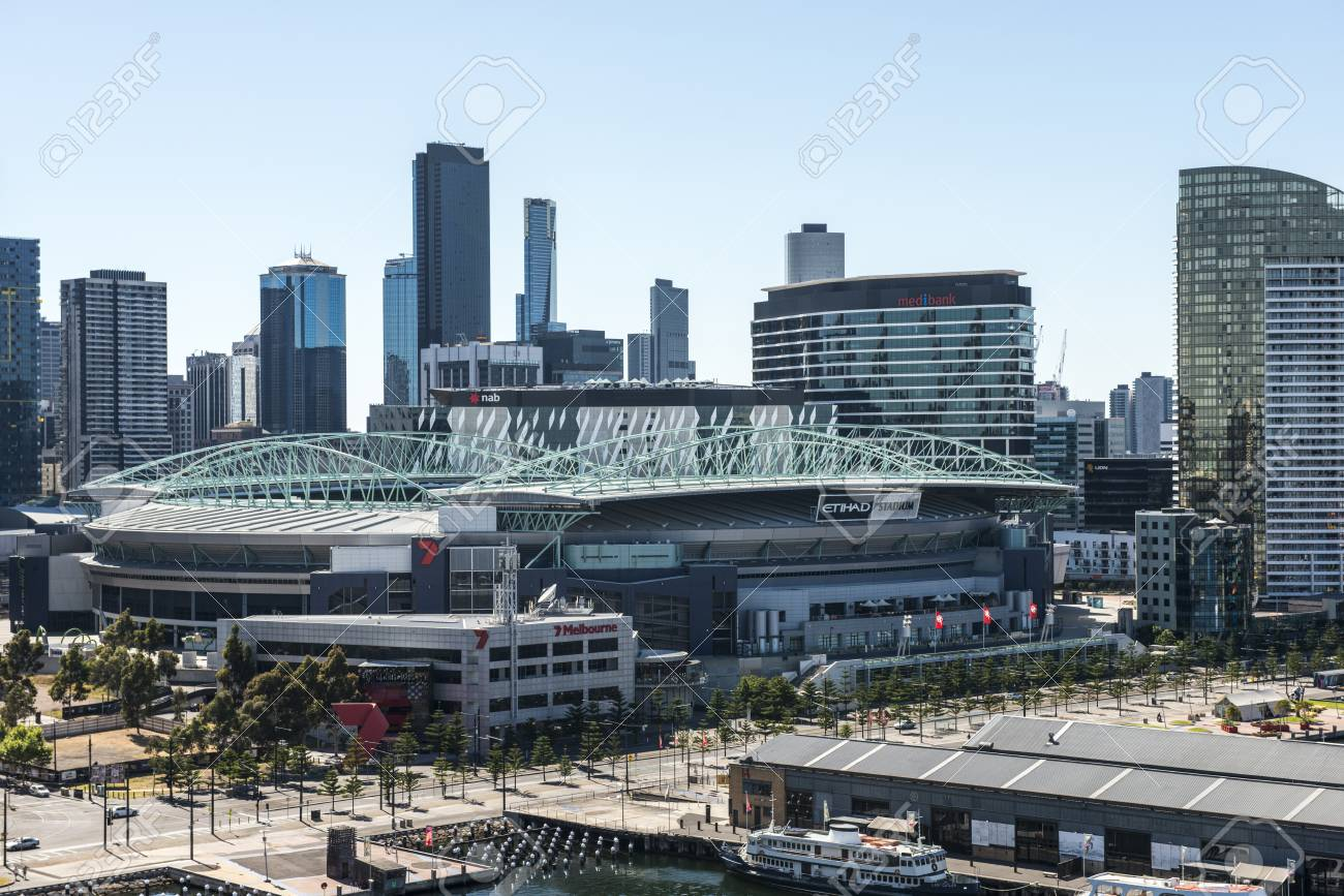 Docklands Etihad Stadium Melbourne Stock Photo, Picture And Royalty Free  Image. Image 72477422.