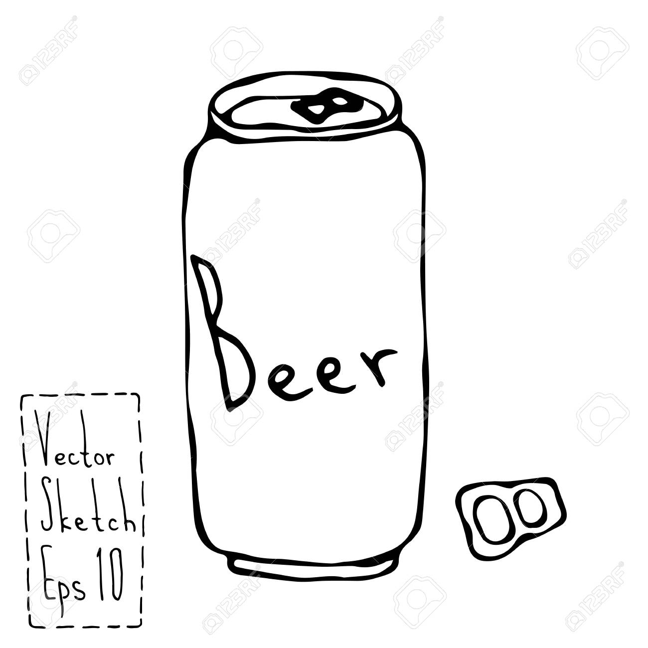 beer can and key doodle sketch bar vector illustration royalty rh 123rf com vector beer can mockup vector beer can mockup