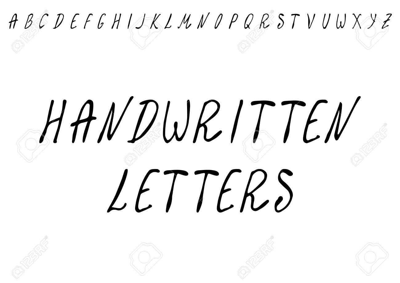 Savoyar Handwritten Letters. Hand Drawn High Quality Vector Illustration. Doodle Style - 115007711