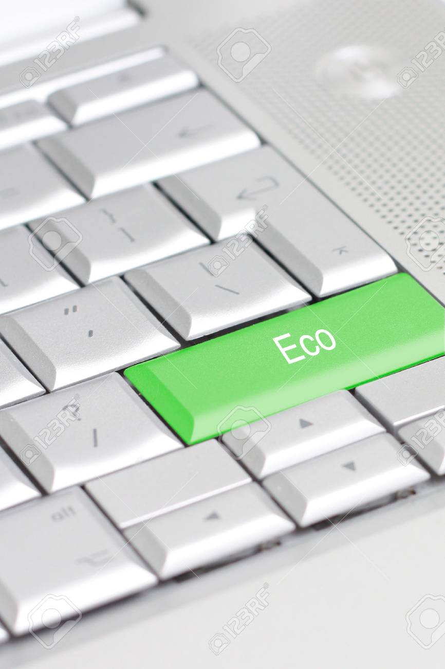 A keyboard with an eco option Stock Photo - 6115530