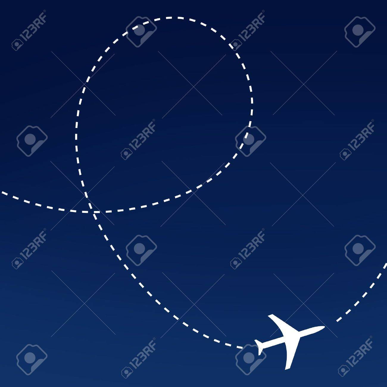 Airplane route Stock Photo - 8534942