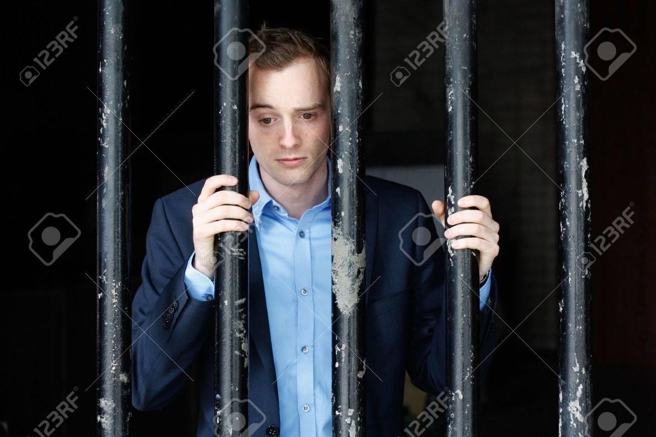 Businessman in jail Stock Photo - 8684412